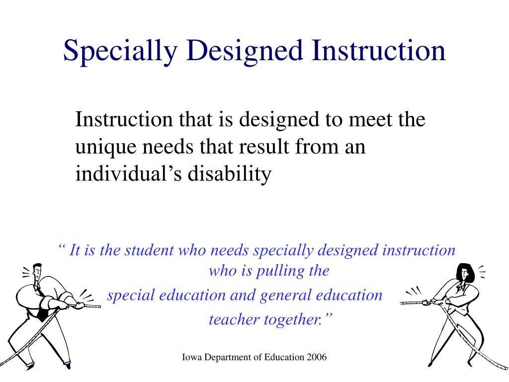 what is specially designed instruction