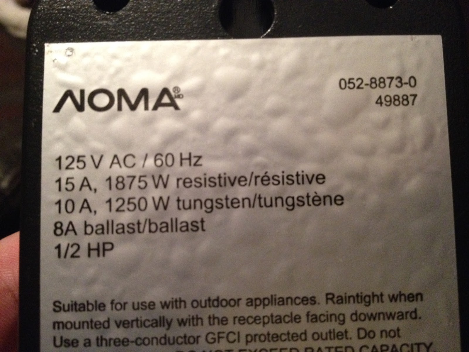 noma outdoor timer instructions