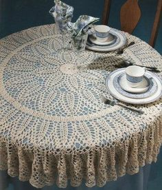 crochet pineapple tablecloth instructions