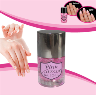 pink armor nail gel instructions