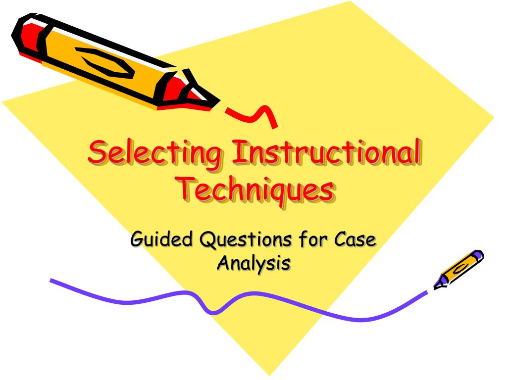 what is instructional techniques