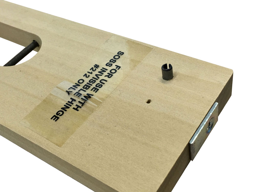 porter cable hinge template instructions