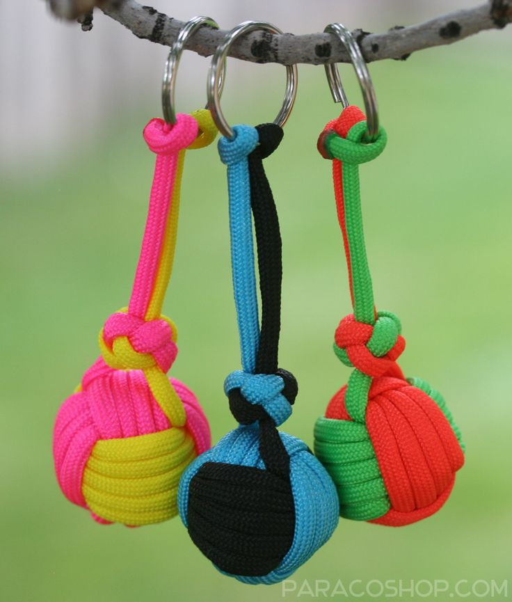 parachute cord keychain instructions