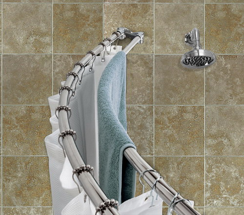 zenith curved shower rod installation instructions