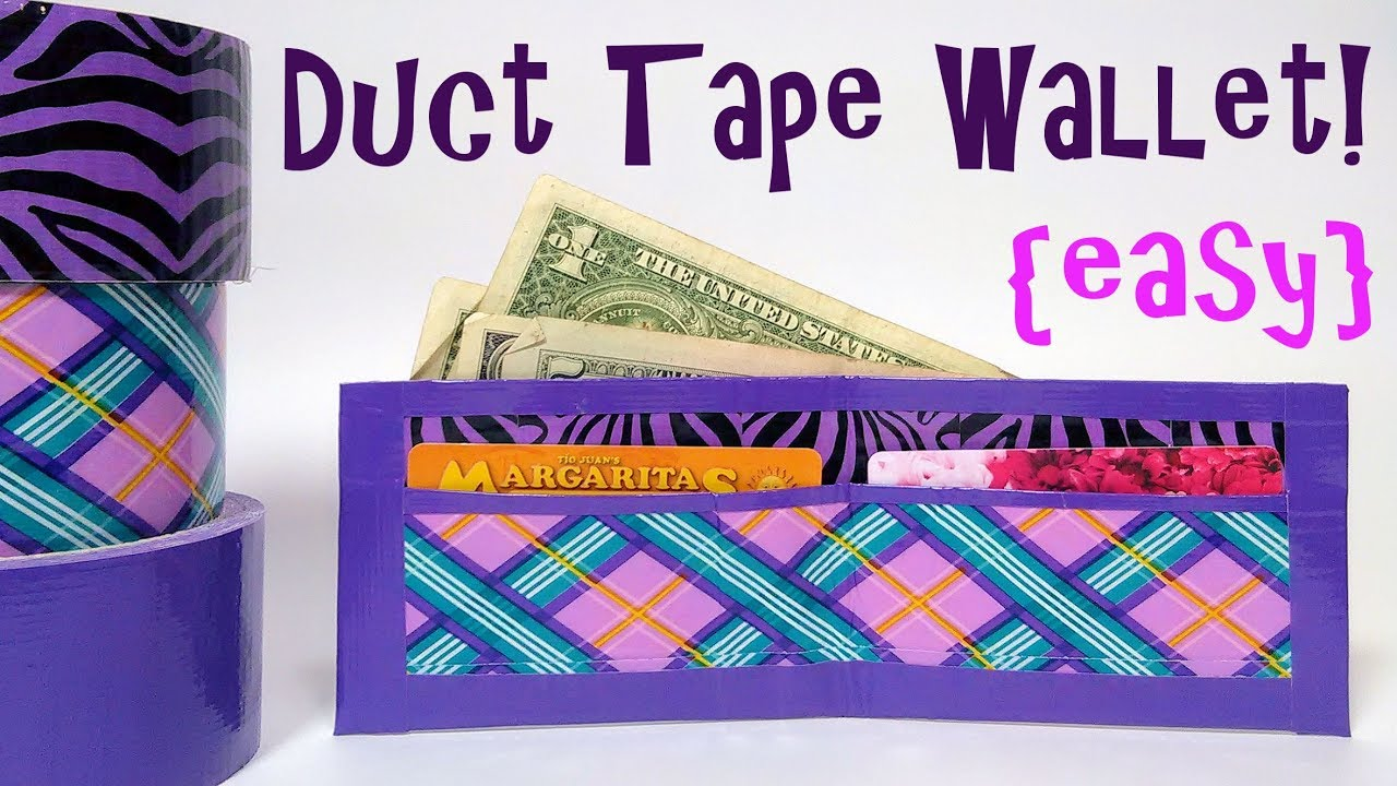 duct tape wallet instructions