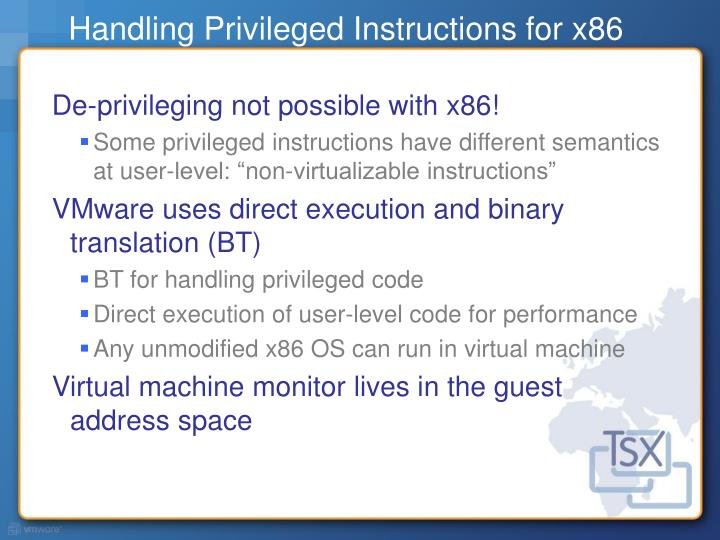 privileged instruction in os