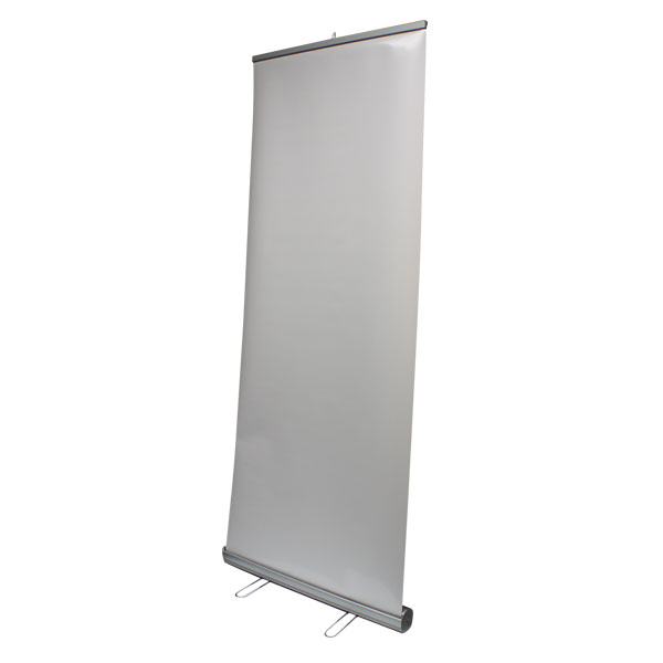 silver step retractable banner stand instructions