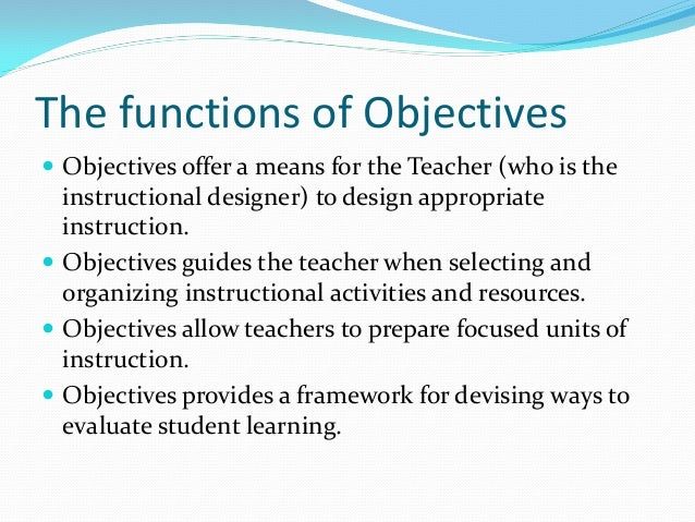 taxonomy of instructional objectives