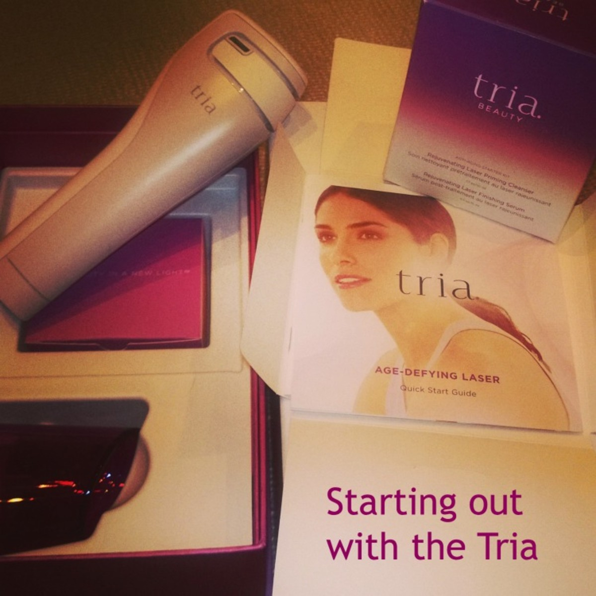 tria face laser instructions